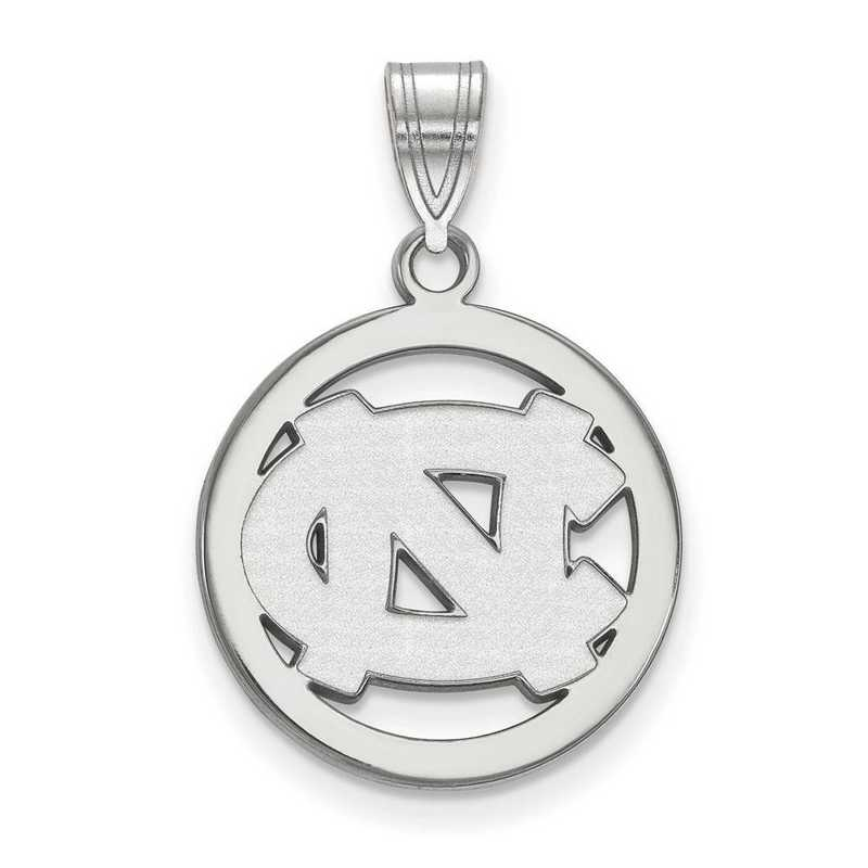 SS028UNC: SS LogoArt Univ of North Carolina Med Pendant in Circle