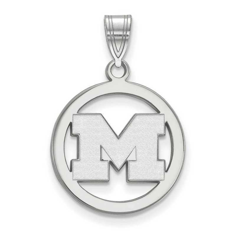 SS030UM: SS LogoArt Michigan (Univ Of) Med Pendant in Circle