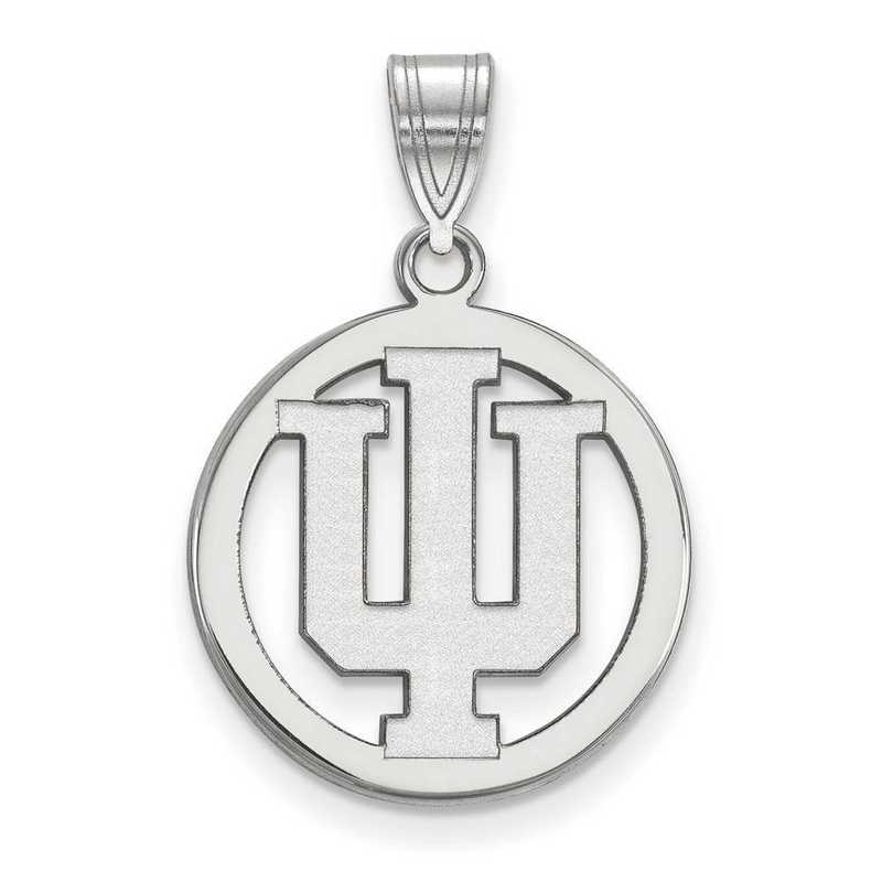 SS031IU: SS LogoArt Indiana Univ Med Pendant in Circle