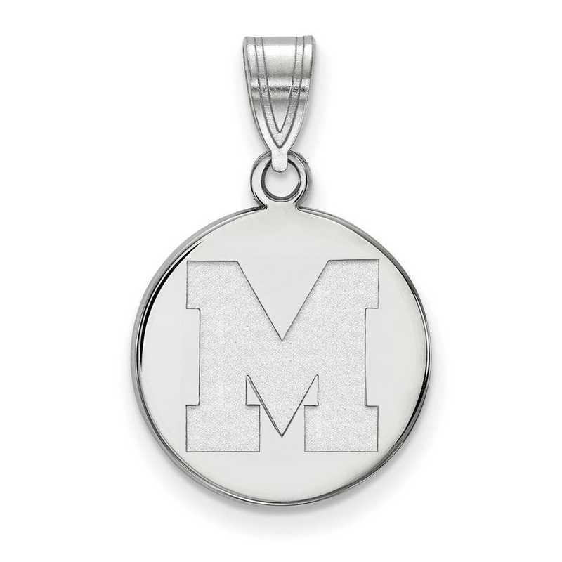 SS032UMP: SS LogoArt Univ of Memphis Medium Pendant