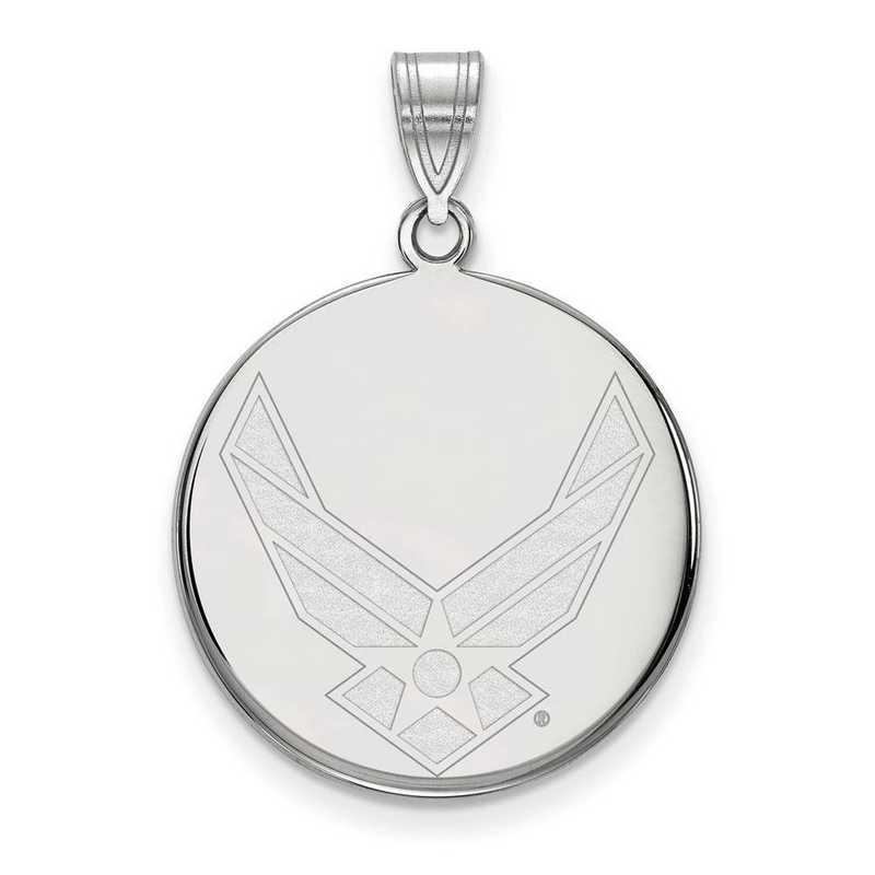 SS032USAF: SS LogoArt U.S. Air Force Academy LG Disc Pendant