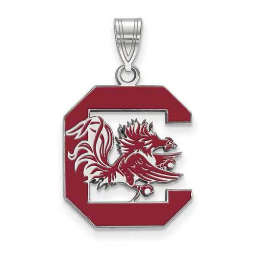 SS032USO: SS LogoArt Univ of South Carolina LG Enamel Pendant
