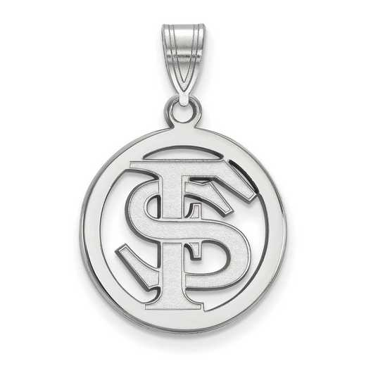 SS033FSU: SS LogoArt Florida State Univ Medium Pendant in Circle