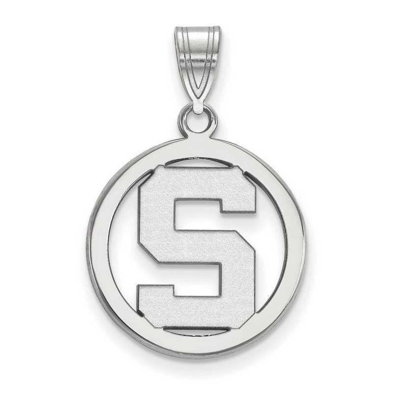 SS033MIS: SS LogoArt Michigan State Univ Sm Pendant in Circle