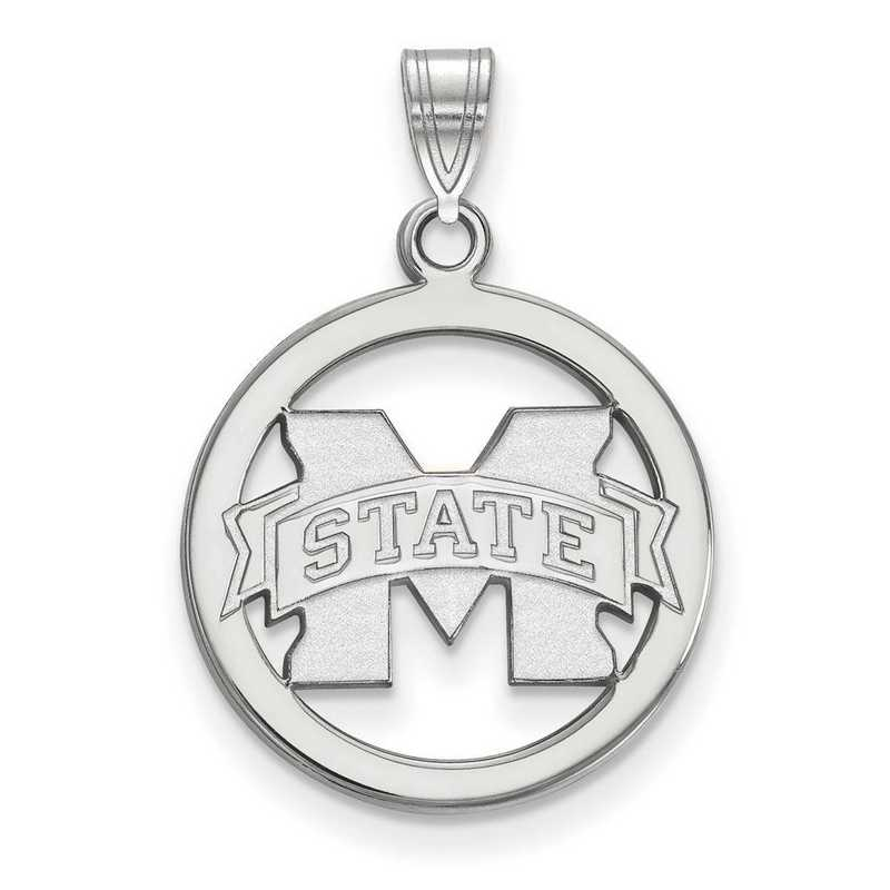 SS033MSS: SS LogoArt Mississippi State Univ Med Pendant in Circle