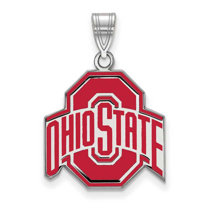 SS033OSU: SS LogoArt Ohio St Univ LG Enamel Pendant