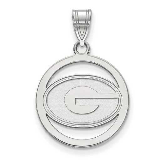 SS033UGA: SS LogoArt Univ of Georgia Sm Pendant in Circle