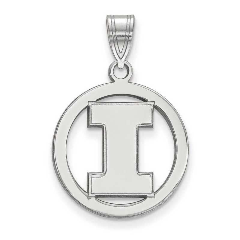 SS033UIL: SS LogoArt Univ of Illinois Med Pendant in Circle