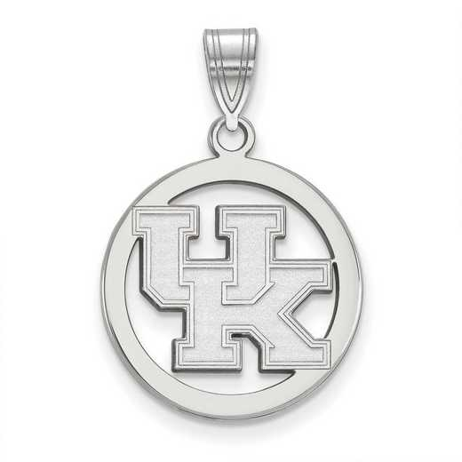 SS033UK: SS LogoArt Univ of Kentucky Sm Pendant in Circle