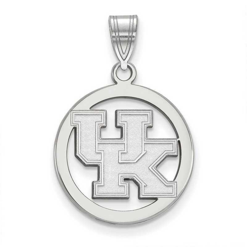 SS033UK: SS LogoArt Univ of Kentucky Sm Pendant in Circle