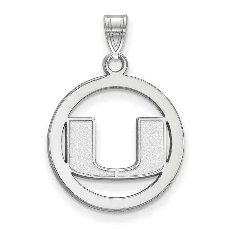 SS033UMF: SS LogoArt Univ of Miami Medium Pendant in Circle