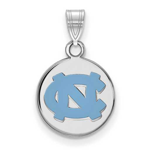 SS033UNC: SS Univ of North Carolina Small Enamel Disc Pendant