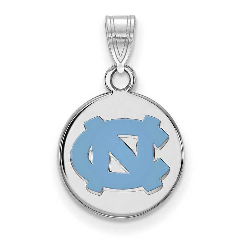 SS033UNC: SS Univ of North Carolina Small Enamel Disc Pendant