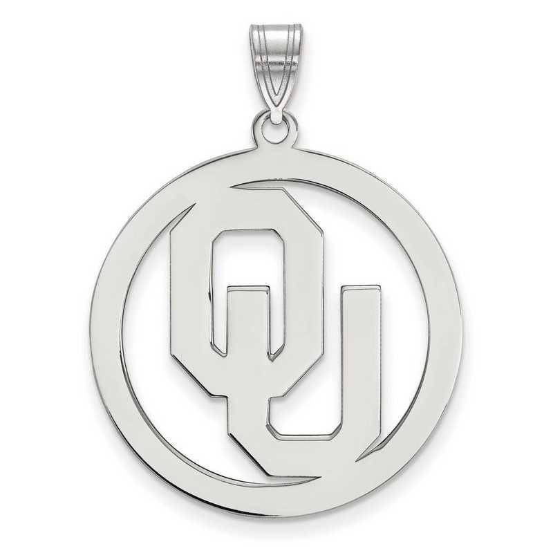 SS033UOK: SS LogoArt Univ of Oklahoma XL Pendant in Circle