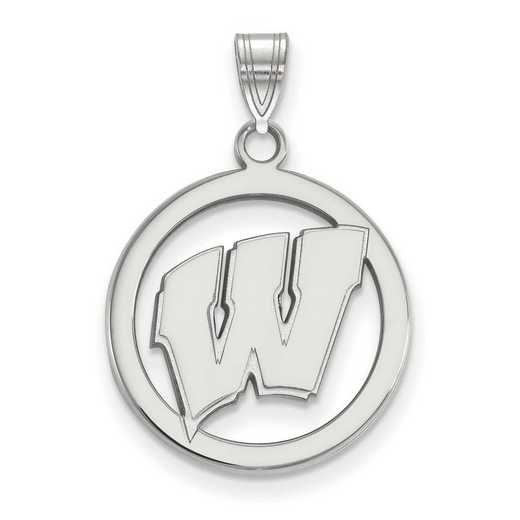 SS033UWI: SS LogoArt Univ of Wisconsin Med Pendant in Circle