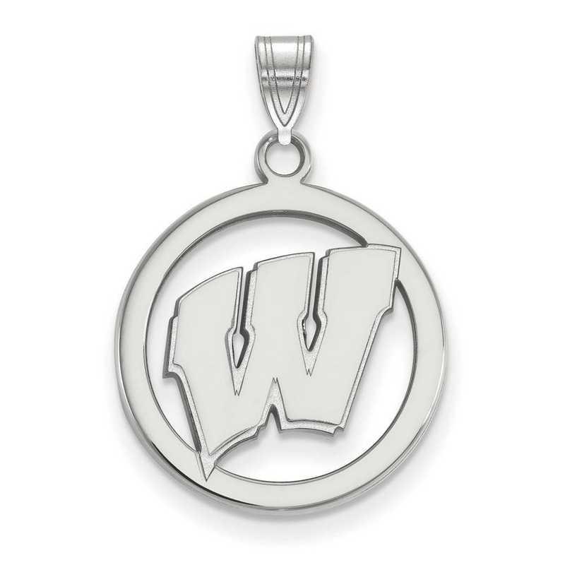 SS033UWI: SS LogoArt Univ of Wisconsin Med Pendant in Circle