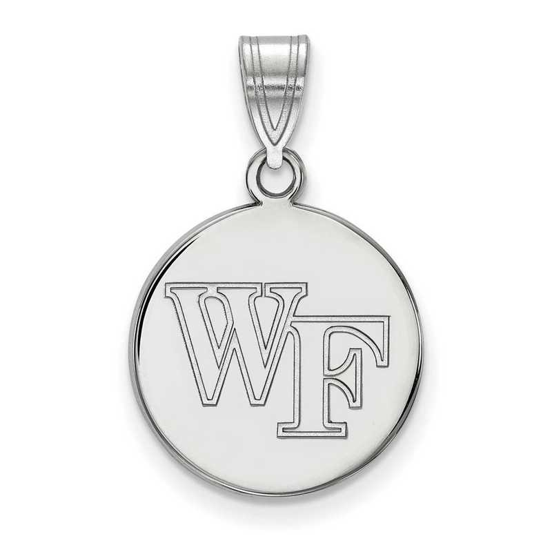 SS033WFU: SS LogoArt Wake Forest Univ Medium Disc Pendant