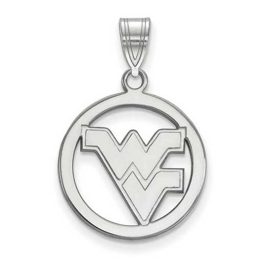 SS033WVU: SS LogoArt West Virginia Univ Med Pendant in Circle