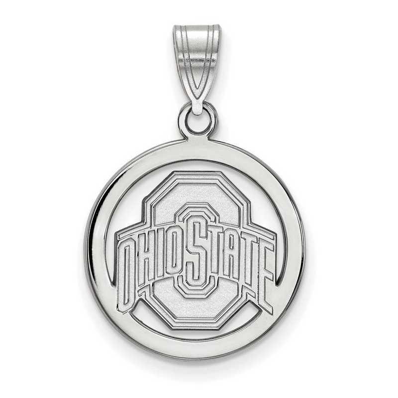 SS034OSU: SS LogoArt Ohio State Univ Med Pendant in Circle
