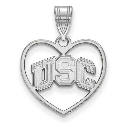 SS034USC: SS Univ of Southern California Pendant in Heart