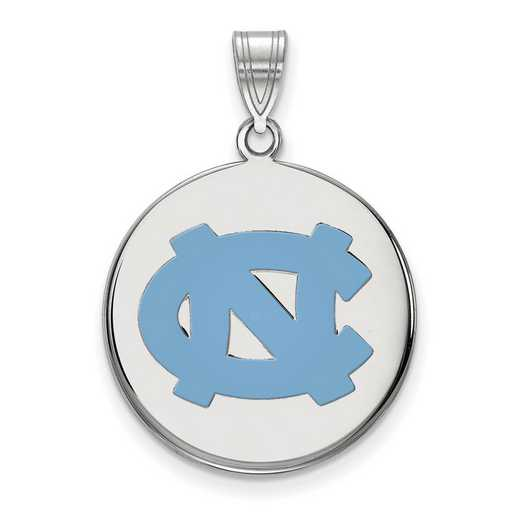 SS037UNC: SS LogoArt Univ of North Carolina LG Enamel Disc Pend