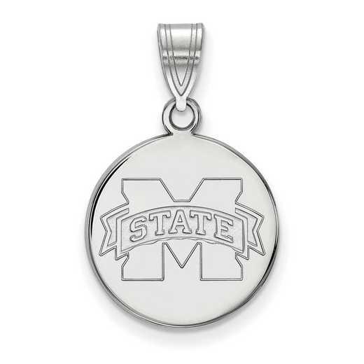 SS039MSS: SS LogoArt Mississippi St Univ Medium Disc Pendant