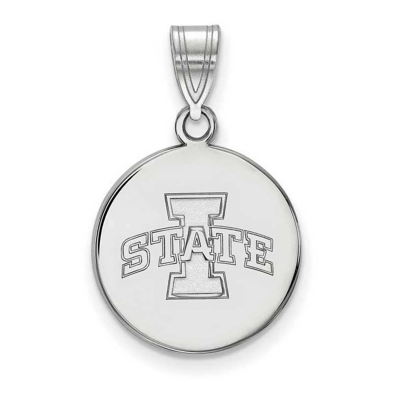 SS040IAS: SS LogoArt Iowa St Univ Medium Disc Pendant