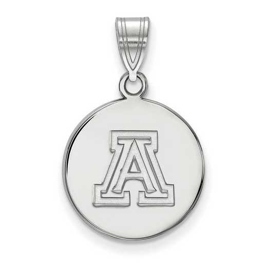 SS040UAZ: SS LogoArt Univ of Arizona Small Disc Pendant