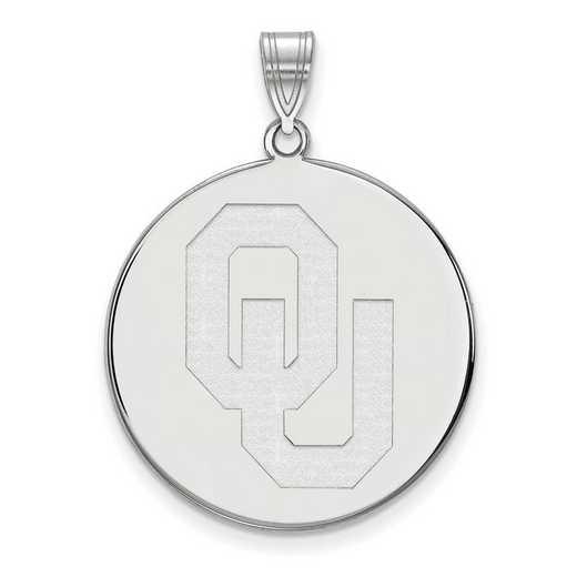 SS040UOK: SS LogoArt Univ of Oklahoma XL Disc Pendant