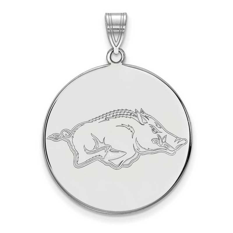 SS042UAR: SS LogoArt Univ of Arkansas XL Disc Pendant