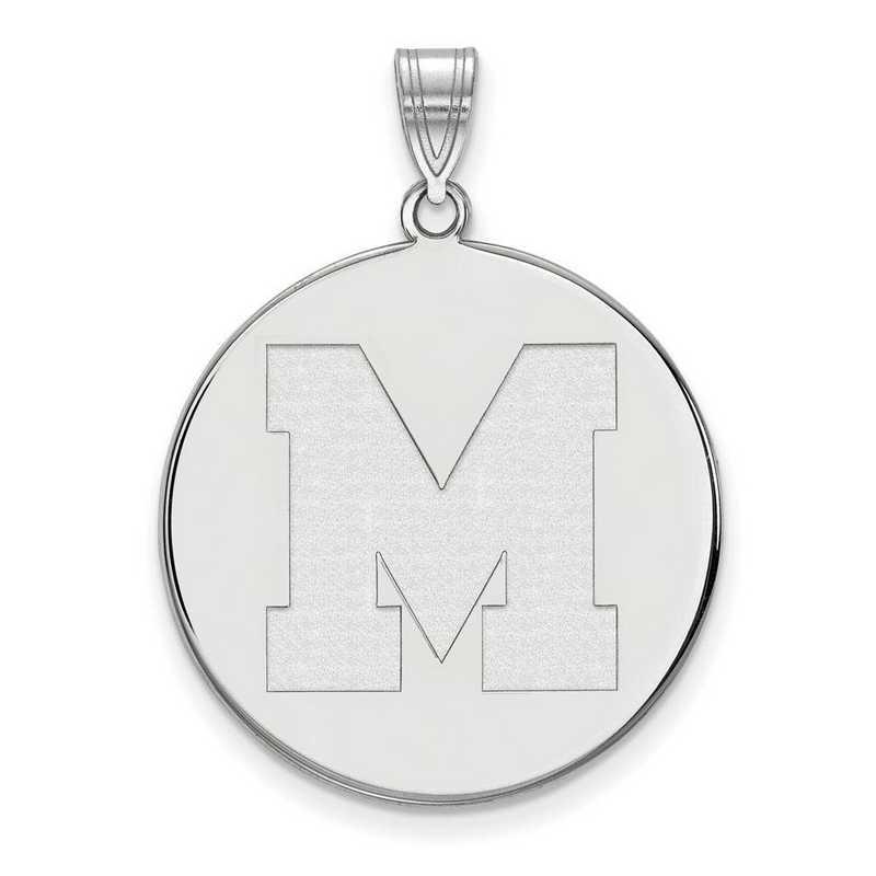 SS042UMP: SS LogoArt Univ of Memphis XL Disc Pendant