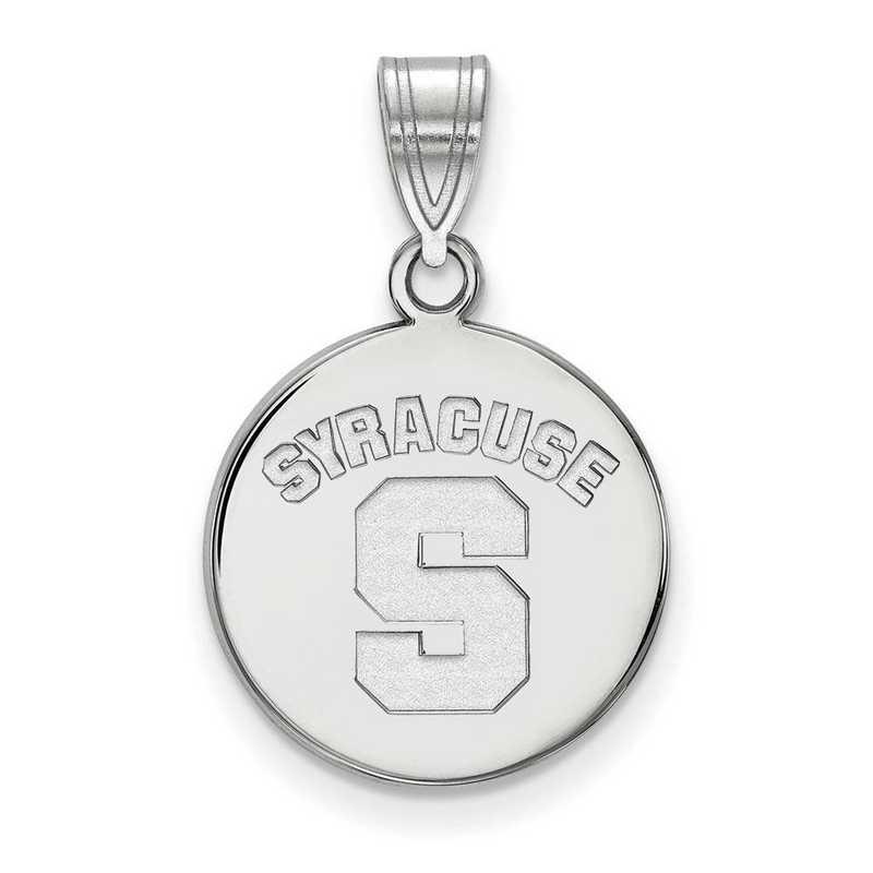 SS043SYU: SS LogoArt Syracuse Univ Medium Disc Pendant