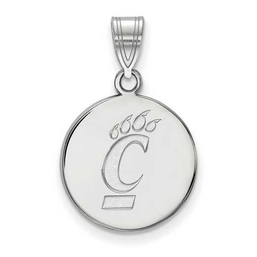SS046UC: SS LogoArt Univ of Cincinnati Medium Pendant