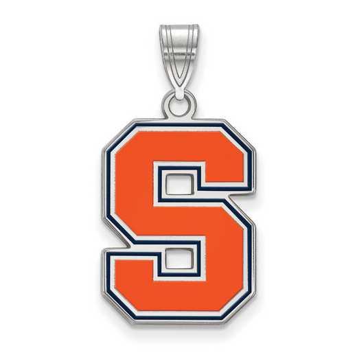 SS050SYU: SS LogoArt Syracuse Univ LG Enamel Pendant