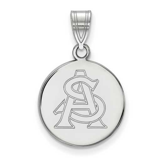 SS051AZS: SS LogoArt Arizona St Univ Medium Disc Pendant