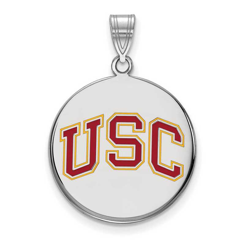 SS051USC: SS Univ of Southern California LG Enamel Disc Pendant