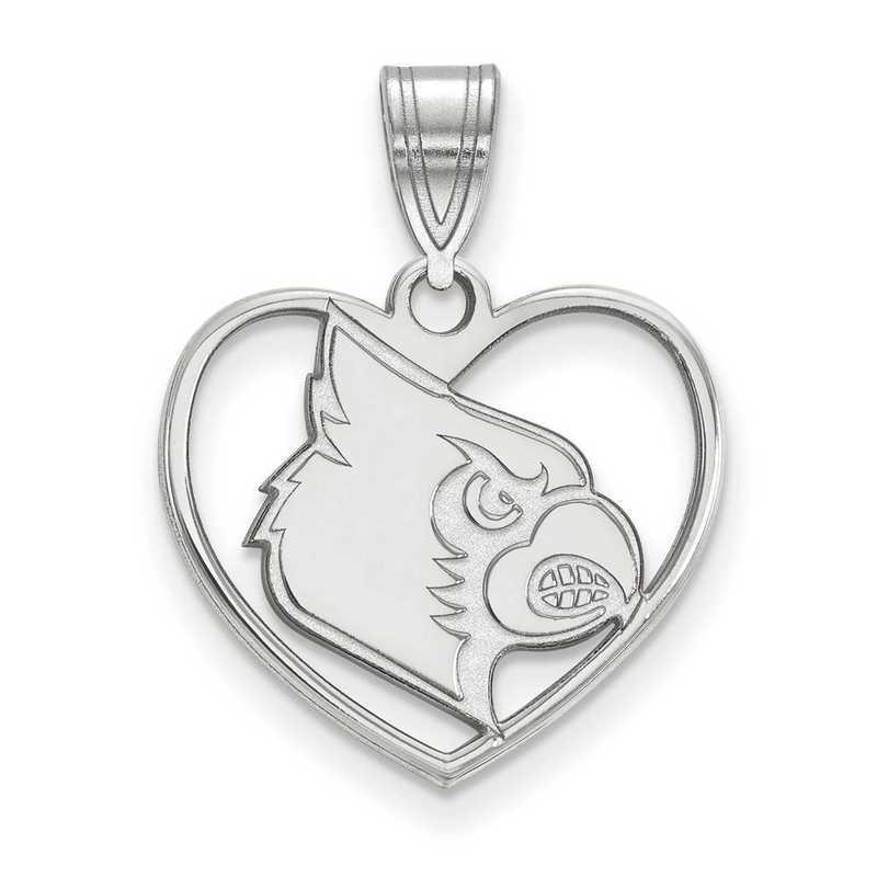 SS052UL: SS LogoArt Univ of Louisville Pendant in Heart