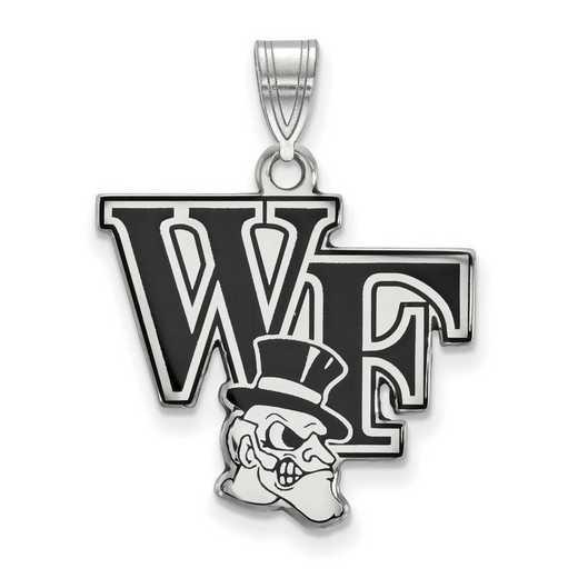 SS052WFU: SS LogoArt Wake Forest Univ LG Enamel Pendant