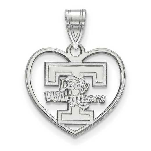 SS056UTN: SS LogoArt Univ of Tennessee Pendant in Heart