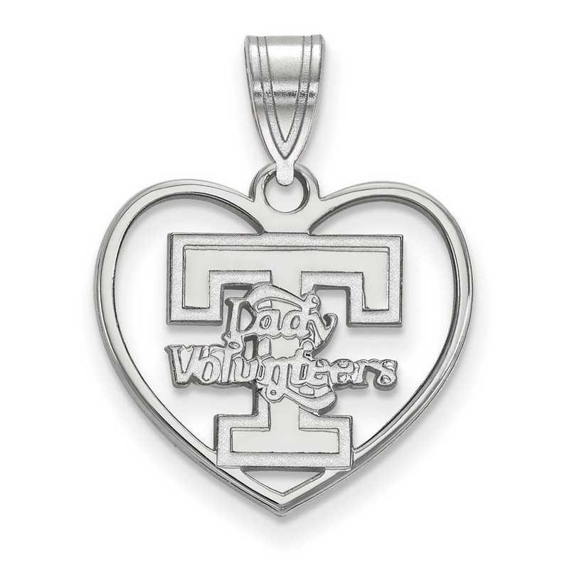 SS056UTN: SS LogoArt Univ of Tennessee Pendant in Heart