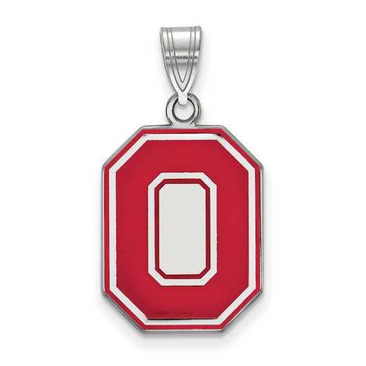 SS057OSU: SS LogoArt Ohio St Univ LG Enamel Pendant