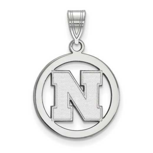 SS057UNE: SS LogoArt Univ of Nebraska SML Pendant in Circle