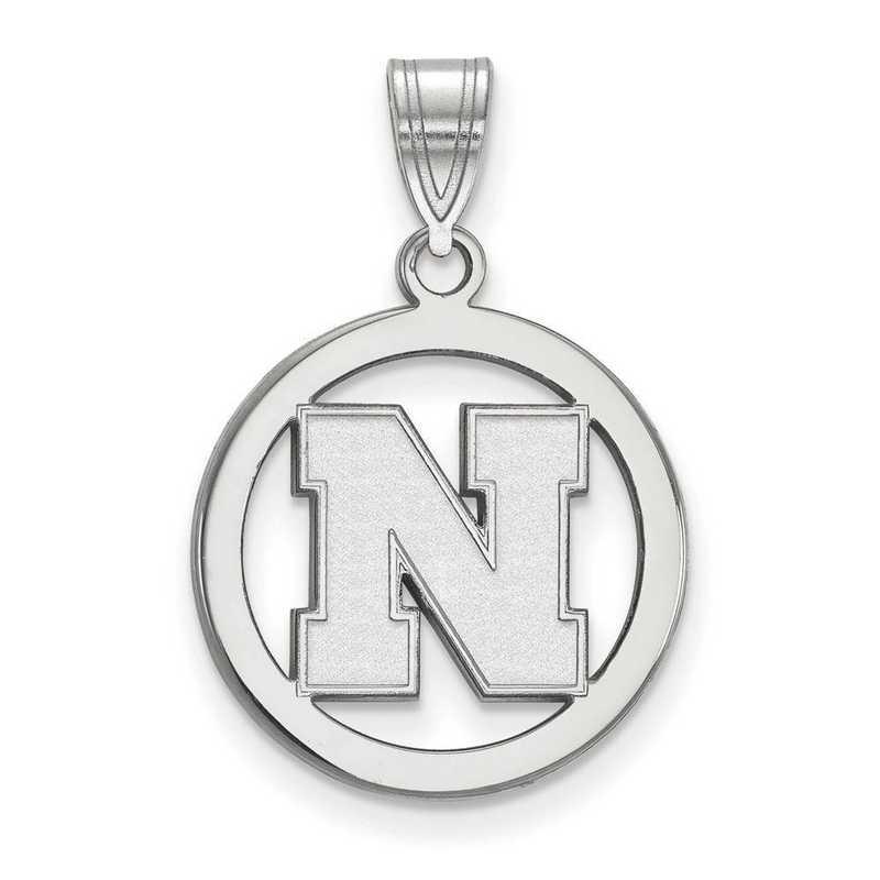 SS057UNE: SS LogoArt Univ of Nebraska SML Pendant in Circle