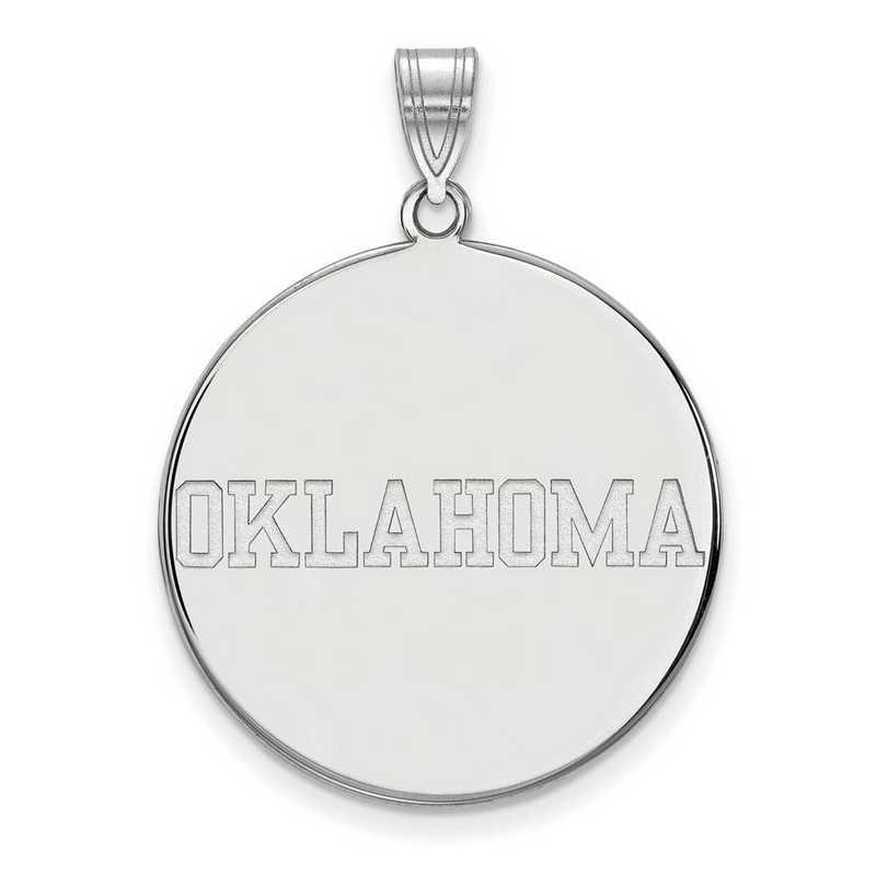 SS057UOK: SS LogoArt Univ of Oklahoma XL Disc Pendant