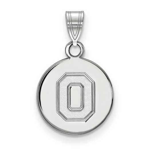SS060OSU: SS LogoArt Ohio St Univ Small Disc Pendant
