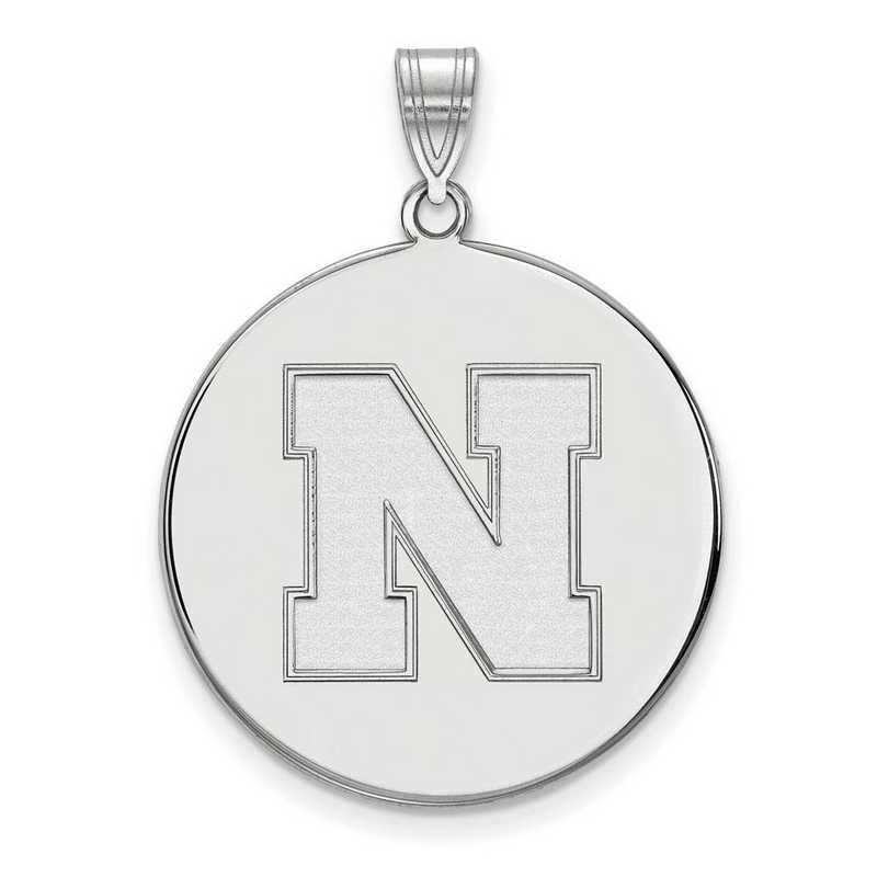 Collegiate University of Nebraska Sterling Silver LogoArt University of Nebraska Large Crest