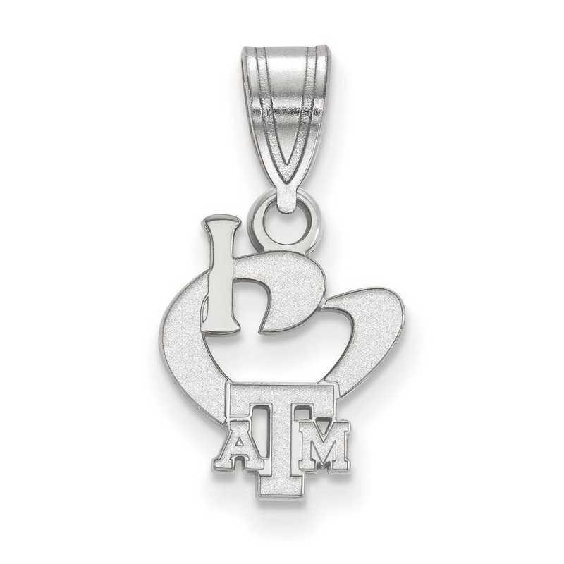 SS062TAM: SS LogoArt Texas A&M Univ SML I Love Logo Pendant