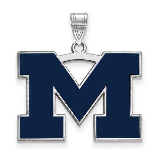 SS062UM: SS LogoArt Michigan (Univ Of) LG Blue Enamel Pendant