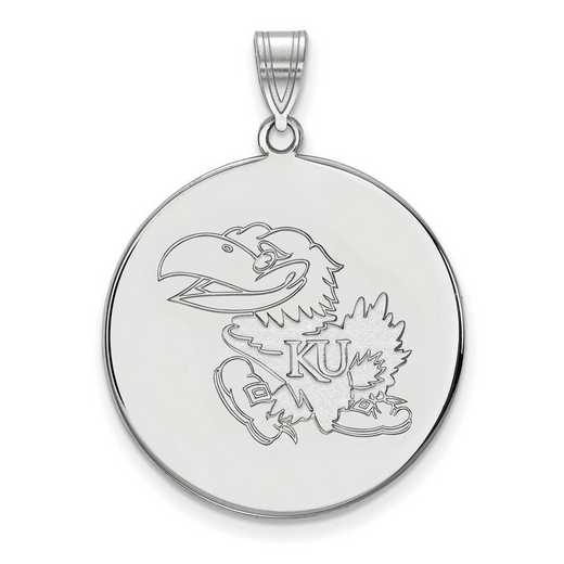 SS063UKS: SS LogoArt Univ of Kansas XL Disc Pendant
