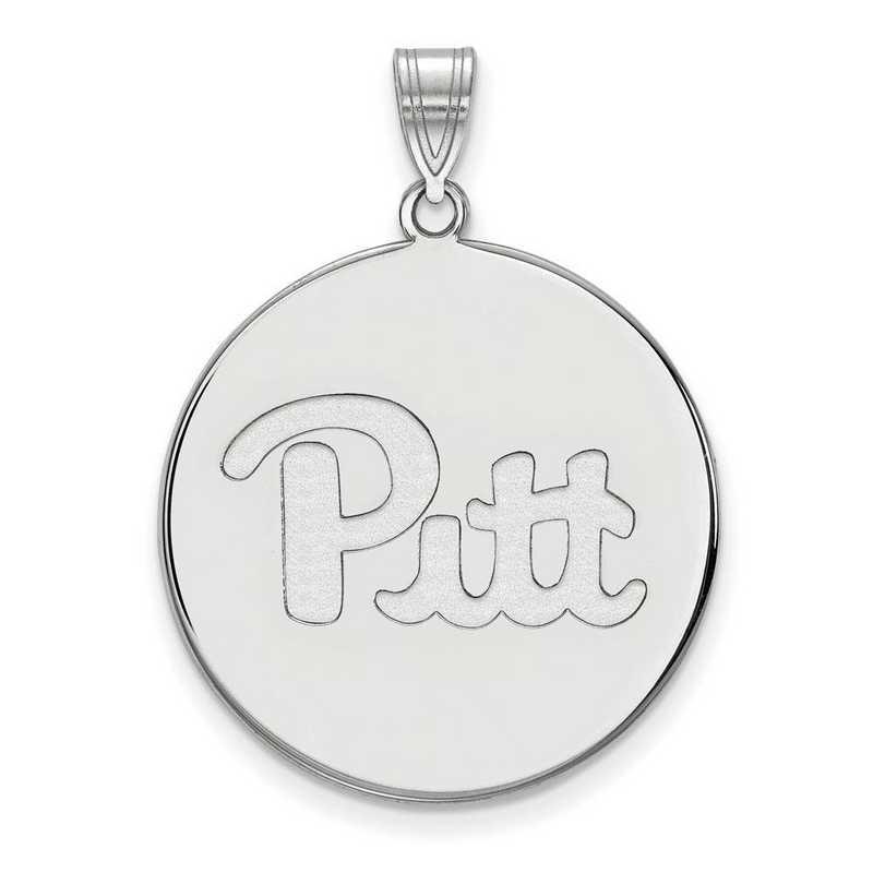 SS063UPI: SS LogoArt Univ of Pittsburgh XL Disc Pendant
